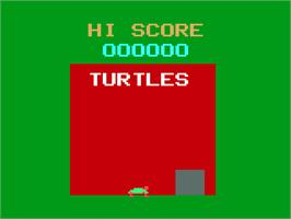 Title screen of Turtles on the Magnavox Odyssey 2.