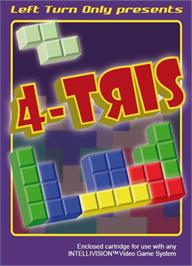 Box cover for 4-TRIS on the Mattel Intellivision.