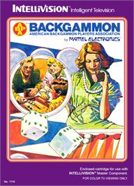 Box cover for ABPA Backgammon on the Mattel Intellivision.