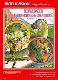 Box cover for Advanced Dungeons & Dragons on the Mattel Intellivision.
