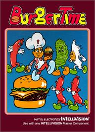 Box cover for Burger Time: New Levels Hack on the Mattel Intellivision.
