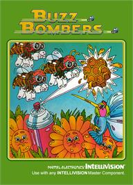 Box cover for Buzz Bombers on the Mattel Intellivision.