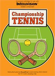 Box cover for Championship Tennis on the Mattel Intellivision.