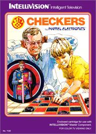 Box cover for Checkers on the Mattel Intellivision.
