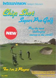 Box cover for Chip Shot: Super Pro Golf on the Mattel Intellivision.