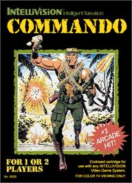 Box cover for Commando on the Mattel Intellivision.