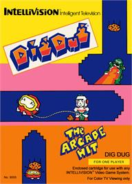 Box cover for Dig Dug on the Mattel Intellivision.