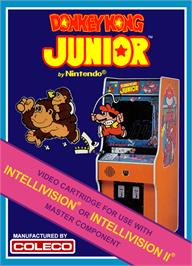 Box cover for Donkey Kong Junior on the Mattel Intellivision.