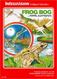 Box cover for Frog Bog on the Mattel Intellivision.