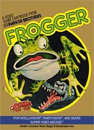 Box cover for Frogger on the Mattel Intellivision.
