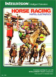 Box cover for Horse Racing on the Mattel Intellivision.