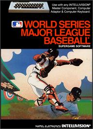 Box cover for Intellivision World Series Major League Baseball on the Mattel Intellivision.