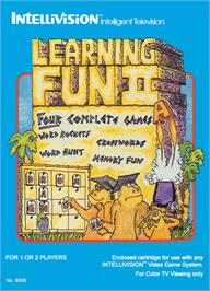 Box cover for Learning Fun II: Word Wizard Memory Fun on the Mattel Intellivision.