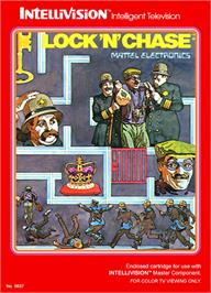 Box cover for Lock'n'Chase on the Mattel Intellivision.