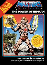Box cover for Masters of the Universe: The Power of He-Man on the Mattel Intellivision.