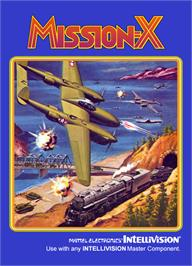 Box cover for Mission-X on the Mattel Intellivision.
