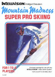 Box cover for Mountain Madness: Super Pro Skiing on the Mattel Intellivision.