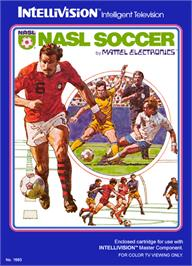 Box cover for NASL Soccer on the Mattel Intellivision.