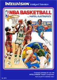 Box cover for NBA Basketball on the Mattel Intellivision.
