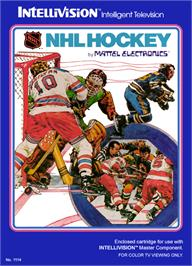 Box cover for NHL Hockey on the Mattel Intellivision.