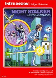 Box cover for Night Stalker on the Mattel Intellivision.