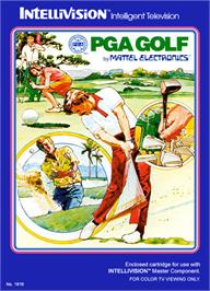 Box cover for PGA Golf on the Mattel Intellivision.
