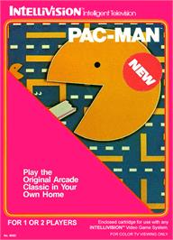 Box cover for Pac-Man on the Mattel Intellivision.