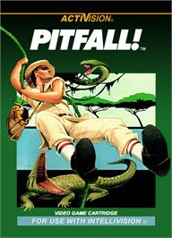 Box cover for Pitfall on the Mattel Intellivision.