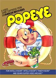 Box cover for Popeye on the Mattel Intellivision.
