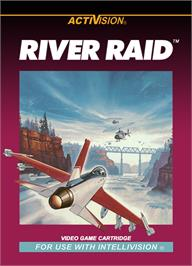 Box cover for River Raid (Version 1) on the Mattel Intellivision.