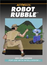 Box cover for Robot Rubble on the Mattel Intellivision.