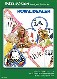 Box cover for Royal Dealer on the Mattel Intellivision.