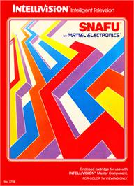 Box cover for Snafu on the Mattel Intellivision.