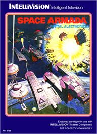 Box cover for Space Armada on the Mattel Intellivision.