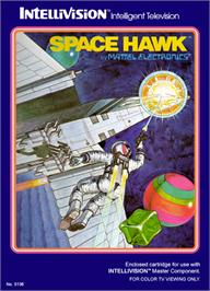 Box cover for Space Hawk on the Mattel Intellivision.