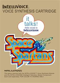 Box cover for Space Spartans on the Mattel Intellivision.