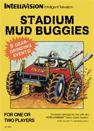 Box cover for Stadium Mud Buggies on the Mattel Intellivision.