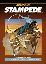 Box cover for Stampede on the Mattel Intellivision.