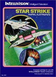 Box cover for Star Strike on the Mattel Intellivision.