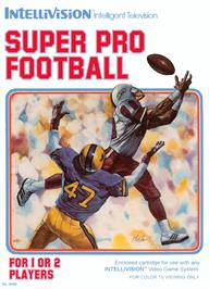 Box cover for Super Pro Football on the Mattel Intellivision.