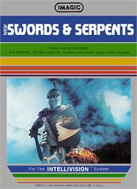 Box cover for Swords and Serpents on the Mattel Intellivision.