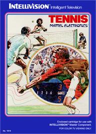 Box cover for Tennis on the Mattel Intellivision.