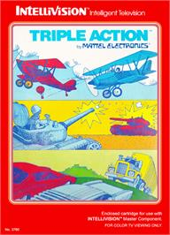 Box cover for Triple Action on the Mattel Intellivision.