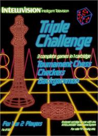 Box cover for Triple Challenge on the Mattel Intellivision.
