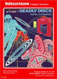 Box cover for Tron: Deadly Discs on the Mattel Intellivision.