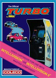 Box cover for Turbo on the Mattel Intellivision.