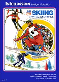 Box cover for U.S. Ski Team Skiing on the Mattel Intellivision.