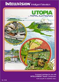 Box cover for Utopia on the Mattel Intellivision.