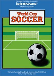 Box cover for World Cup Soccer on the Mattel Intellivision.