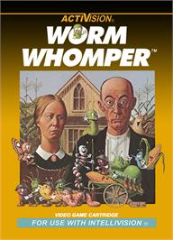 Box cover for Worm Whomper on the Mattel Intellivision.